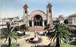 Algeria Oran La Cathedrale Et La Statue De Jeanne D'Arc - Oran