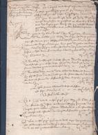 Manuscrit De 1649.Belle Calligraphie à Déchiffrer. - Manuscrits