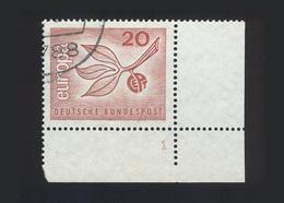 BRD 1965, Michel-Nr. 484, Europa 1965, 20 Pf., Eckrand Rechts Unten Mit Formnummer 1, Gestempelt, Siehe Foto - BRD