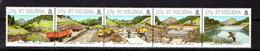 SAINT  HELENA    1995    Construction  Of  Harpers  Valley  Earth  Dam    Strip  Of  5    MNH - Saint Helena Island