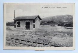C. P. A. : 11 OUPIA : La Gare, Avenue D'Olonzac, En 1912 - Autres Communes
