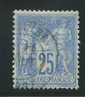 FRANCE: Obl., N° YT 79, T.II, Bleu, TB - 1876-1898 Sage (Type II)
