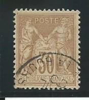 FRANCE: Obl., N° YT 80, T.II, Brun-jaune, TB - 1876-1898 Sage (Type II)