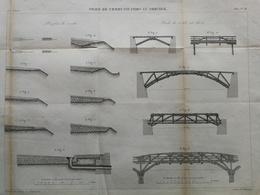 ANNALES DES PONTS Et CHAUSSEES (Norvège) - Voies De Communication En Norvège - Gravé Par Macquet 1887 (CLC97) - Public Works