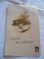 """Couverture De Bloc Papier  """"Velin De Savoie"""" Objets Religieux - Non Classés"""