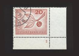 BRD 1965, Michel-Nr. 484, Europa 1965, 20 Pf., Eckrand Rechts Unten Mit Formnummer 3, Gestempelt, Siehe Foto - BRD
