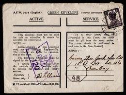 A6117) UK Grossbritannien India Feldpostbrief 1944 N. Bombay / Indien - 1902-1951 (Könige)