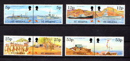 SAINT  HELENA    1995    50th  Anniv  Of  End  Of  2nd  World  War    Set  Of  4  Pairs    MNH - Saint Helena Island