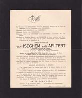OSTENDE OOSTENDE Van ISEGHEM Van AELTERT Mademoiselle 1854-1935 Faire-part - Décès