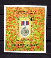 SAINT  HELENA    1995    50th  Anniv  Of  End  Of  2nd  World  War    Sheetlet    MNH - Saint Helena Island
