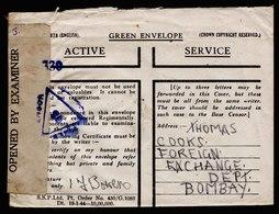A6118) UK Grossbritannien India Feldpostbrief 1944 N. Bombay / Indien - 1902-1951 (Könige)