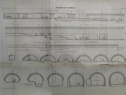 ANNALES DES PONTS Et CHAUSSEES - Souterrain Des écharmeaux - L. Courtier 1900 (CLC100) - Travaux Publics