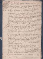 Manuscrit De 1616.Belle Calligraphie à Déchiffrer. - Manuscrits