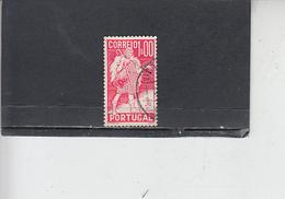 PORTOGALLO  1937 - Unificato  586 - Gil Vicente - 1910 - ... Repubblica