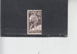 PORTOGALLO  1937 - Unificato  587 - Gil Vicente - 1910 - ... Repubblica