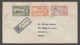 BC - Turks & Caicos. 1953 (13 July). GT- Canada (6 Aug). Vi Jamaica, Kingston (18 July). Reg Tricolrfkd Env With Transit - Unclassified