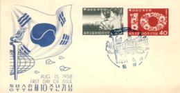 COREA. Cover 1st. Day. Year 1958. Postal History. - Corea Del Sur