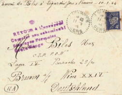 FRANCE. Cover Prisioner War, 2ond. War. Year 1944. Letter Incluided. Postal History. - 1941-42 Pétain