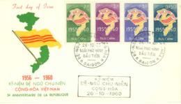 VIETNAM. Cover 1st. Day. Year 1960. Postal History. - Vietnam