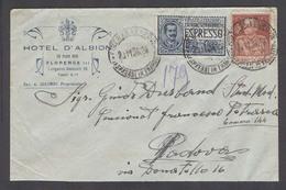 Italy - XX. 1926 (20 Nov). Firenze - Padova. Express Mail Fkd Env. - Italy