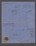 USA. 1895 (6 Nov). Cayucos, Cal - Switzerland / Contone. Fkd Env 5c Between 2 Small Villages. American Hotel. - Unclassified