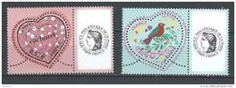 """FR Personnalisés YT 3747A & 3748A """" Coeurs De Cacharel - Cérès """" 2005 Neuf** - Personalized Stamps"""