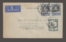 BC - Kenya. 1938 (23 April). Mombassa - Lichtenstein. Air Fkd Env 65c Rate Better Dest. Via Switzerland. Basel. - Non Classés