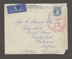 BC - Nigeria. 1940 (7 June). Arapa - Belfast, Nothern Ireland. Air Fkd Env 1sh 3d Strip Depart Censor Label. Via Lagos. - Non Classés