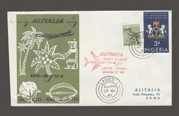 Airmails - World. 1961 (27 Nov). Nigeria. Lagos - Roma. First Flight. - Timbres