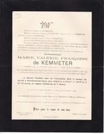GAND MARIAKERKE Marie Valérie De KEMMETER 1841-1910 Famille HYE HOYS JANSSENS - Décès