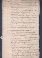 Manuscrit De 1752.Belle écriture à Déchiffrer.Contrat De Mariage Dumoulinet - Manuscrits