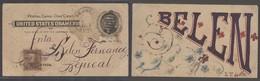CUBA. 1899 (27 Sept). Bejucal. Local Reg 1c Ovptd Stat Card + 10c Ovptd US Stline Cancel Manuscript Printed Designed Car - Non Classés