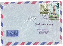 E60  Thailand 1985 Cover To Berlin Germany,King Rama IX + Thaipex 85 - Tailandia