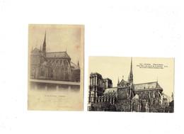 Lot 2 Cpa - 75 - PARIS - NOTRE DAME -  Coté Sud - Abside - Travaux échafaudage - Notre Dame De Paris