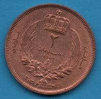 Libya  Kingdom 2 Millièmes 1952 Idris I  KM# 2 - Libië