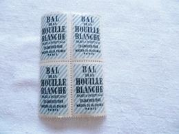 4 Vignettes Bleues Bal De La Houille Blanche , Paris , 1949 - Vignettes De Fantaisie