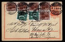 A6120) DR Infla Karte M. Zusfr. Burkhardtsdorf 27.01.22 N. Chemnitz - Briefe U. Dokumente
