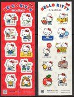 JAPAN, 2018, MNH, HELLO KITTY, CATS, ELEPHANTS,   2  SHEETLETS - Childhood & Youth