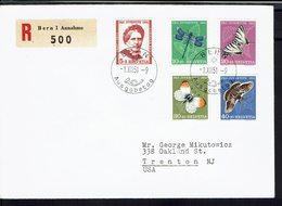 Suisse - 1951 - Série 512/516 Sur Enveloppe Premier Jour En Recommandé, De Bern Pour Trenton (USA) B/TB - - FDC