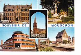 MOUSCRON (Belgique) Souvenir De Mouscron, Piscine, Calvaire Hôtel De Ville, Ed. Rousselle-Castel 1980 Environ - Mouscron - Moeskroen