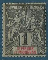 Saint Pierre Et Miquelon 1892 Yvert N° 89 - St.Pierre Et Miquelon