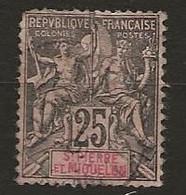 Saint Pierre Et Miquelon 1892 Yvert N° 66 - St.Pierre Et Miquelon