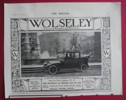 1913 WOLSELEY LIMOUSINE-LANDAULETTE  MOTOR CAR. ORIGINAL MAGAZINE ADVERT - Advertising