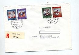 Lettre Recommandee Le Lignon Sur Patria 1966 - Postmark Collection