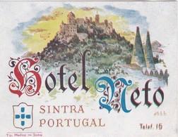 PORTUGAL -  HOTEL LUGAGGE  LABEL - HOTEL NETO - SINTRA - Hotel Labels