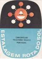 PORTUGAL -  HOTEL LUGAGGE  LABEL - ESTALAGEM ROTA DO SOL - CARCAVELOS - Hotel Labels