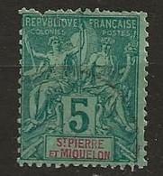Saint Pierre Et Miquelon 1891 Yvert N° 62 - St.Pierre Et Miquelon