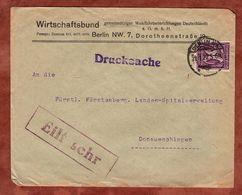 Drucksache, Wirtschaftsbund Berlin, Ziffer, Nach Donaueschingen 1922 (72441) - Briefe U. Dokumente