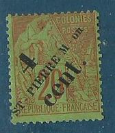 Saint Pierre Et Miquelon 1891 Yvert N° 37 - St.Pierre Et Miquelon