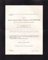 ROULERS GAND DRONGEN André-Antoine De KEMMETER époux De KERCHOVE D'EXAERDE 1907-1962 En 2 Volets Complets - Décès